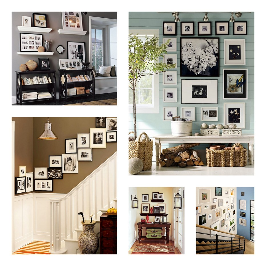 photo wall display ideas inspiration