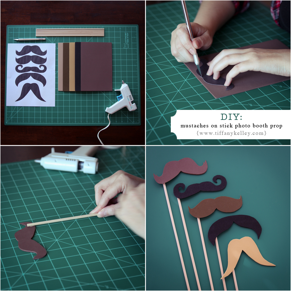 DIY How to make mustaches on stick photo booth photography prop