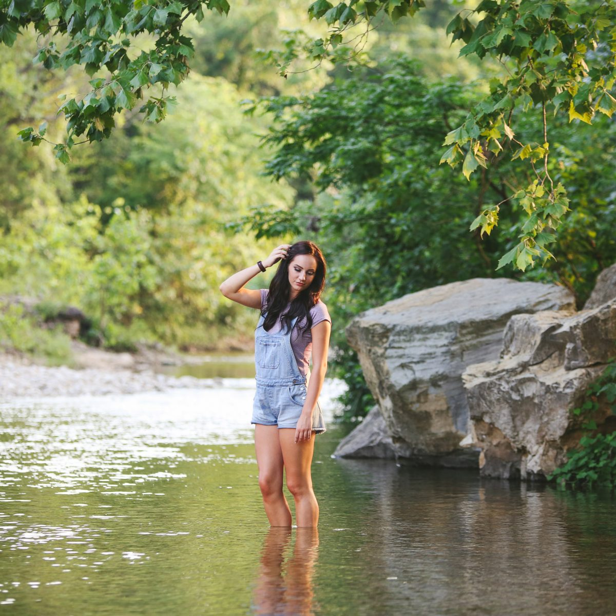 Creek Senior Branson MO Photographer Tiffany Kelley Photography