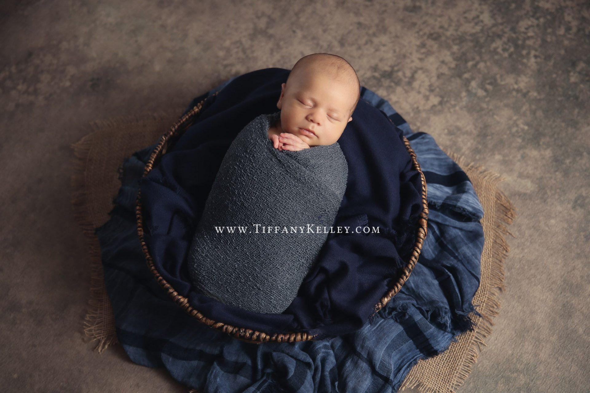 Owen Branson and Springfield MO Newborn Photographer Tiffany Kelley Photography