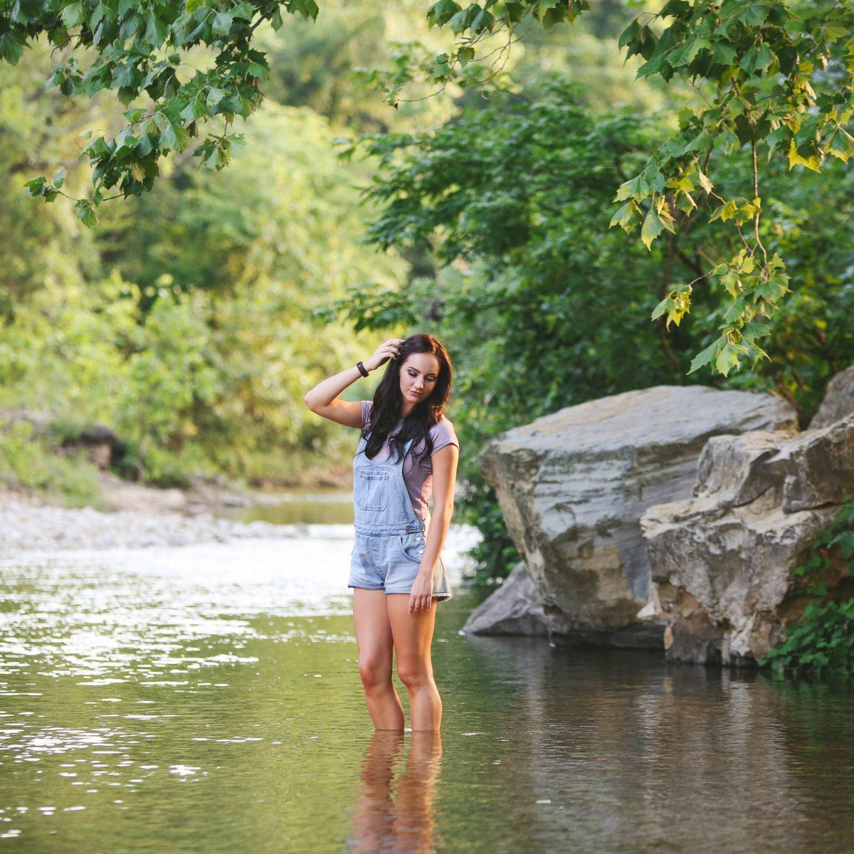 Creek Senior Branson MO Photographer Tiffany Kelley Photography